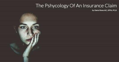 Public Adjuster Talks About The Phsycology of an Insurance Claim
